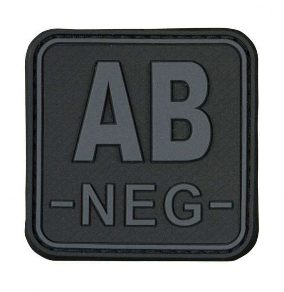 3D Blutgruppenpatch 50x50 Grau/Schwarz AB neg -