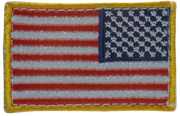 US Nationalitätsabzeichen Reverse Textil mit Klett Bunt