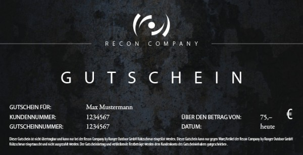 RECON Gutschein - Wert 75,00 Euro