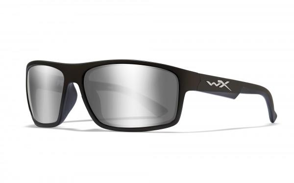 Wiley X Peak Sonnenbrille Silver Flash Smoke Grey