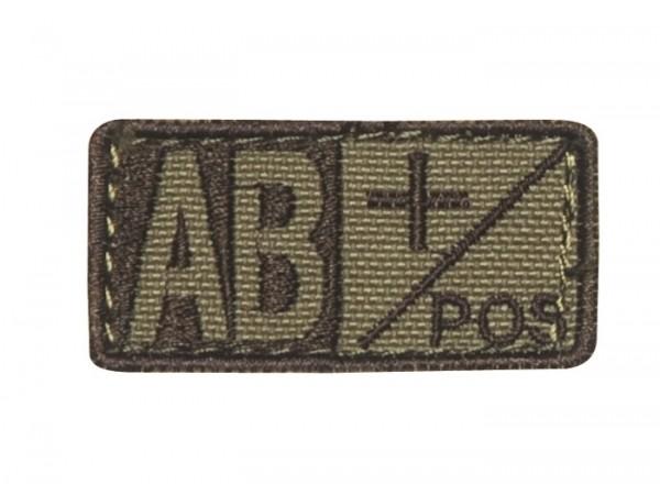 Blutgruppenpatch Coyote/Braun AB pos + 229AB+003