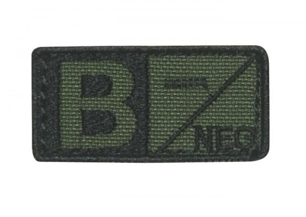 Blutgruppenpatch Oliv/Schwarz B neg - 229B-001
