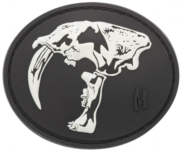 Maxpedition Rubber Patch SABERTOOTH SKULL Glow