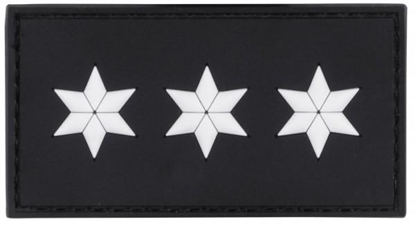 3D Dienstgradabzeichen Polizeihauptkommissar (3 Sterne, weiss)