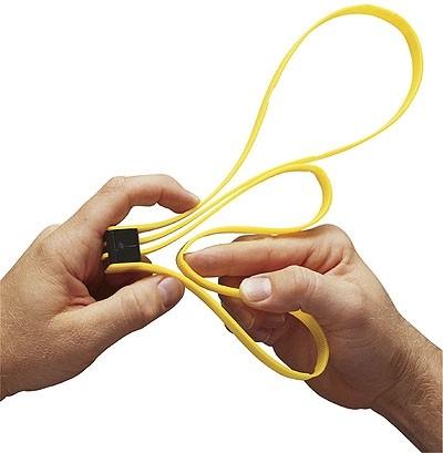 ASP Einweghandfessel Kunststoff Gelb 6er Pack