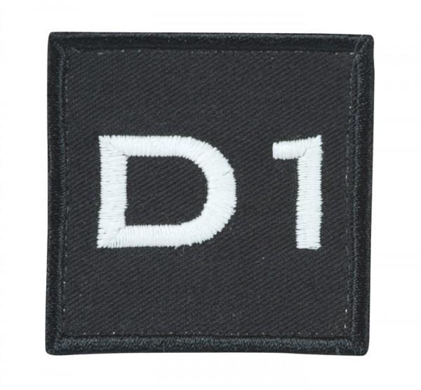 Truppkennzeichnung Schwarz mit Klett D1