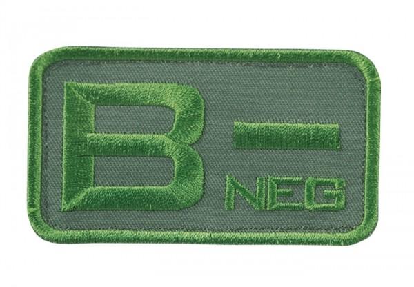 Blutgruppenkennzeichnung Oliv B neg -