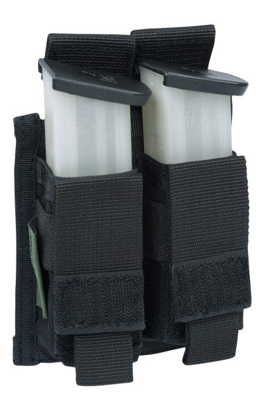 Warrior Double 9mm Pistol Pouch Black