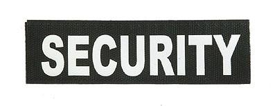 Reflektierender Schriftzug Klein /Klett Security