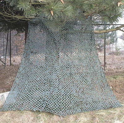 Tarnnetz auf Netzträger Basic Military 3x3 M. Wood