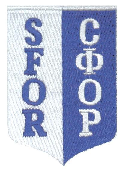 SFOR Textil Abzeichen Blau/Weiß