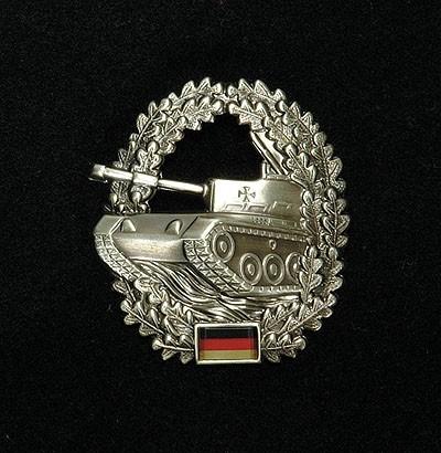 BW Barett Abzeichen Panzertruppe Metall