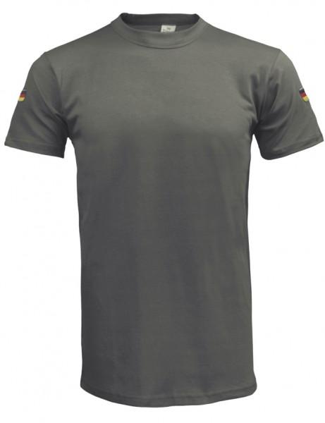 BW T-Shirt Tropen Oliv mit Nationalitätsabzeichen