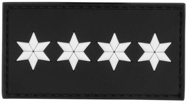 3D Dienstgradabzeichen Polizeihauptkommissar (4 Sterne, weiss)