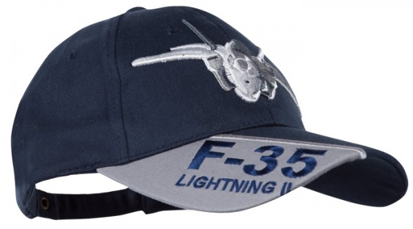 Baseball Cap Blau 3-D F-35