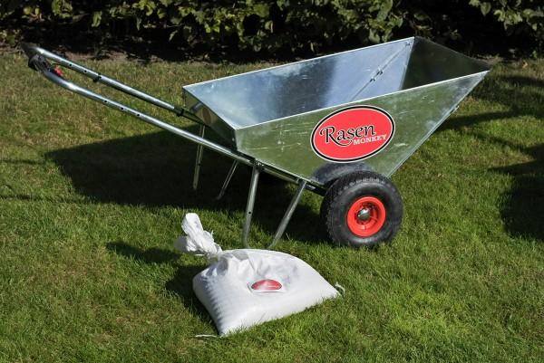 RasenMonkey - Streuwagen zum Sanden von Rasenflächen