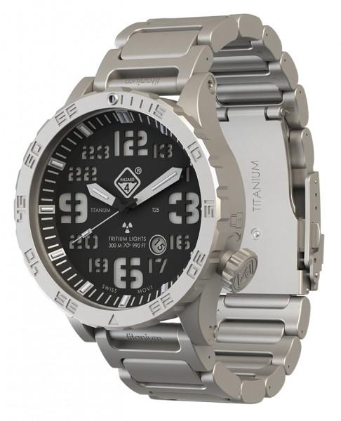 Hazard 4 Uhr Heavy Water Diver - BlackTie Bracelet Grün/ Gelb