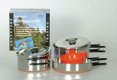 Koch-Set für 1 Pers. Stainless Steel