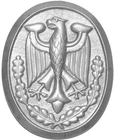 BW Schützenschnurplakette Silber