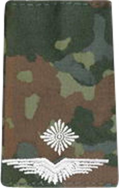 BW Rangschl. Leutnant Luftwaffe Fleck/Silber