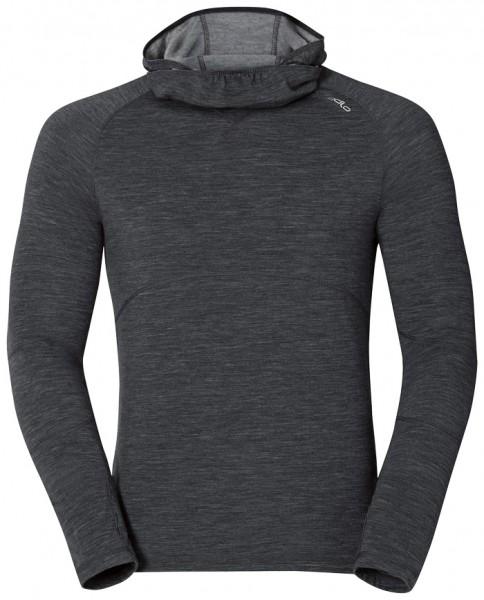 Odlo Shirt L/S with Facemask EVOLUTION Warm Schwarz Melange
