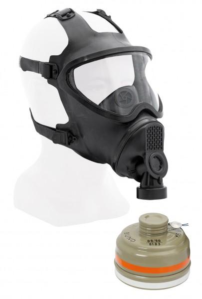Belgische Schutzmaske BEM-4GP mit Filter Neuwertig