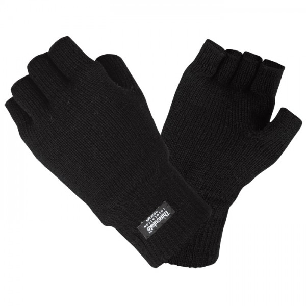 Halbfinger Handschuhe Thermo mit Thinsulate-Futter