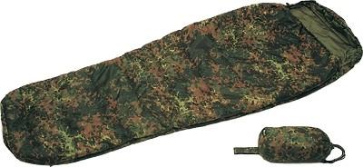 Mil-Tec Schlafsack Commando mit Packsack Flecktarn