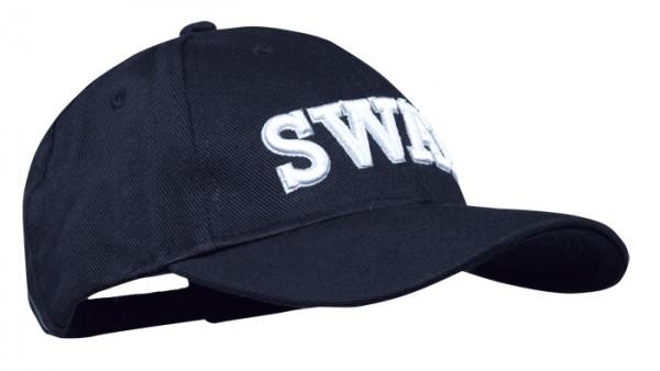 Baseball Cap Schwarz 3-D SWAT