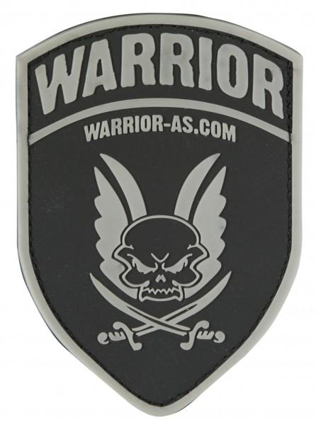 Warrior AS Rubber Patch Logo Shield Black
