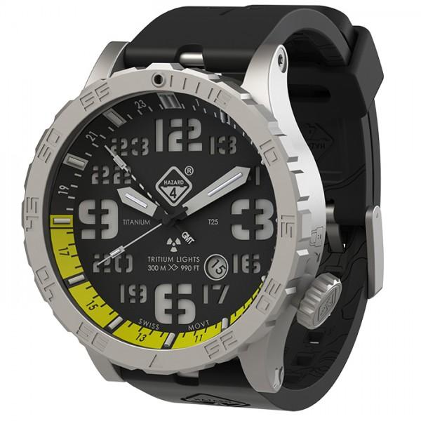 Hazard 4 Uhr Heavy Water Diver - BlackTie Yellow GMT Grün/ Gelb