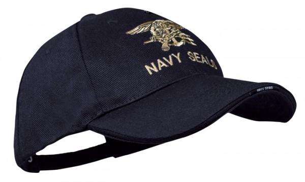 Baseball Cap Schwarz Navy Seals Trident