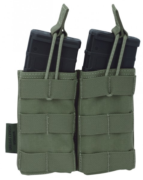 Warrior Double Open Mag Pouch Oliv M4/AR15