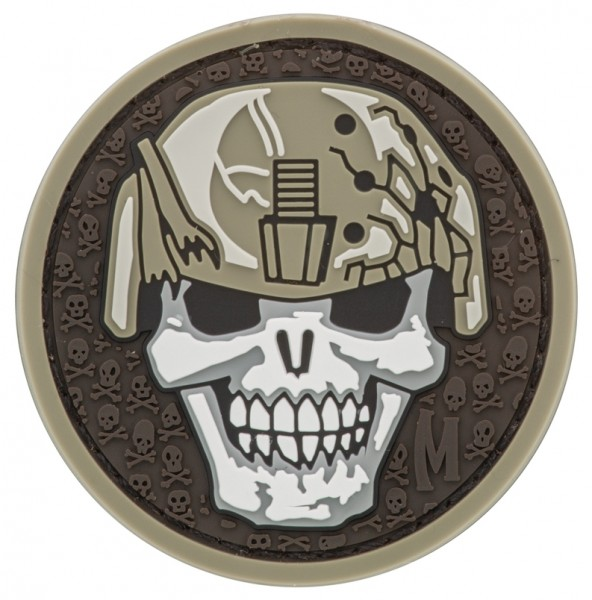 Maxpedition Rubber Patch SOLDIER SKULL Arid