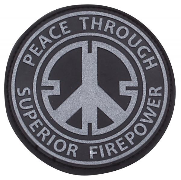 3D Rubber Patch Peace swat