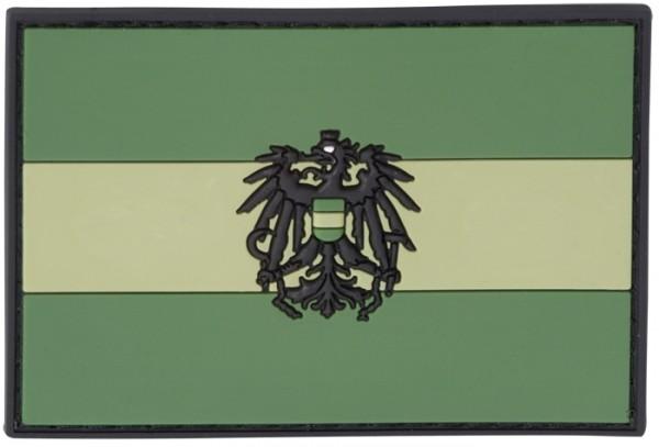 3D Rubber Patch Österreich 80 x 50 Oliv