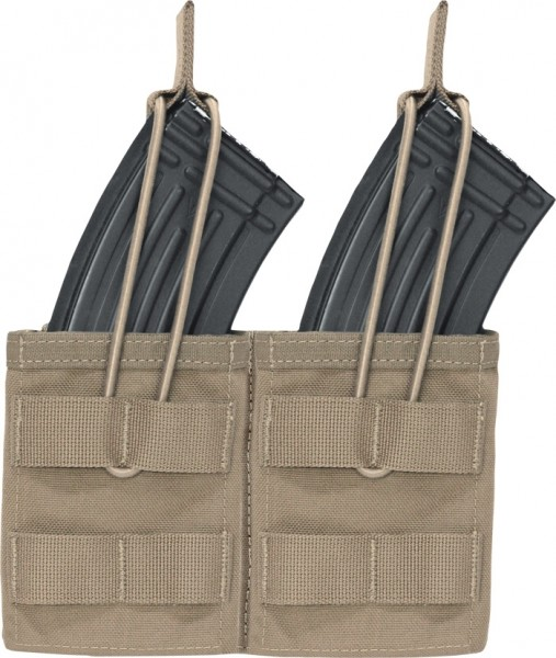 Warrior Double Open Mag Pouch AK47/74 Coyote