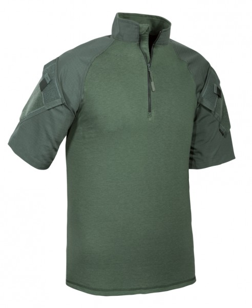 TRU-SPEC 1/4 Zip Combat Shirt Kurzarm Oliv