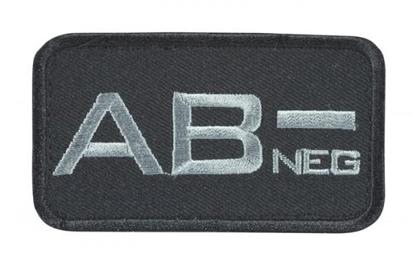 Blutgruppenkennzeichnung Schwarz/Grau AB neg -