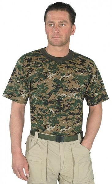 USMC T-Shirt - Digital-Woodland