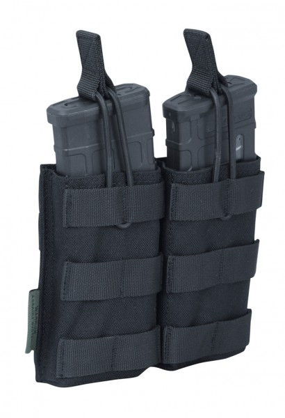 Warrior Double Open Mag Pouch Black M4/AR15