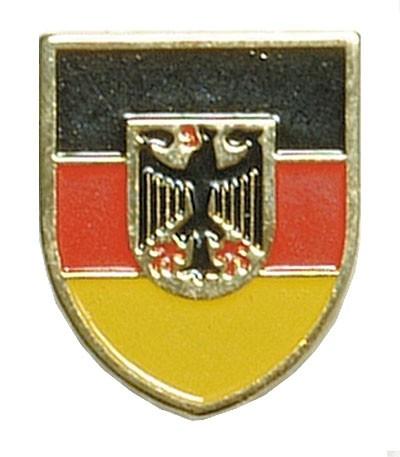 BW Mützenanstecker Metall Schwarz/Rot/Gold Adler
