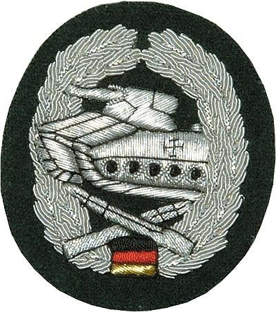 Barett Abzeichen Panzergrenadier Handgestickt