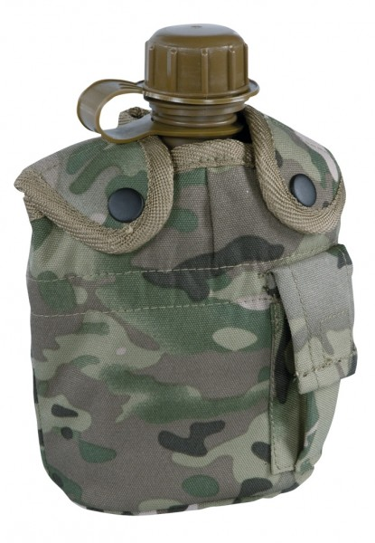 US Feldflasche Kunststoff mit Becher Multitarn