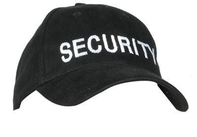 Baseball Cap Security Bestickt Schwarz