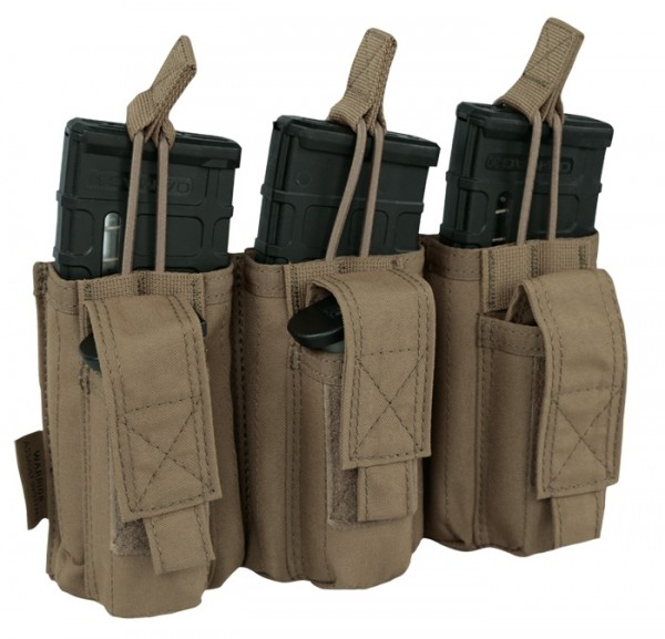 Warrior Elite Ops Triple Open M4 & 9mm Mag Pouches Coyote