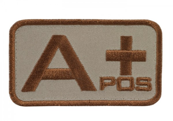 Blutgruppenkennzeichnung Sand/Braun A pos +