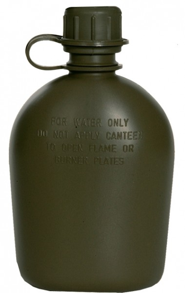 US Feldflasche 1 QT. Oliv ohne Hülle