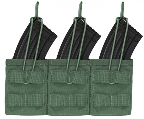 Warrior Triple Open Mag Pouch AK47/74 Olive