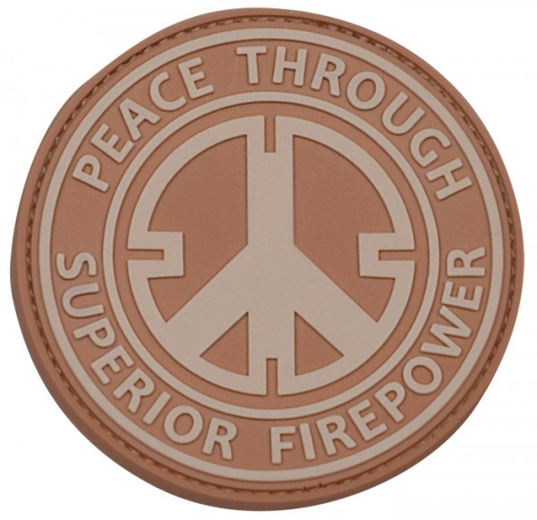 3D Rubber Patch Peace Desert